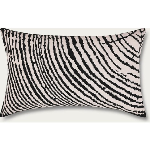 Off White Wood Block Rectangle Cushion Cover