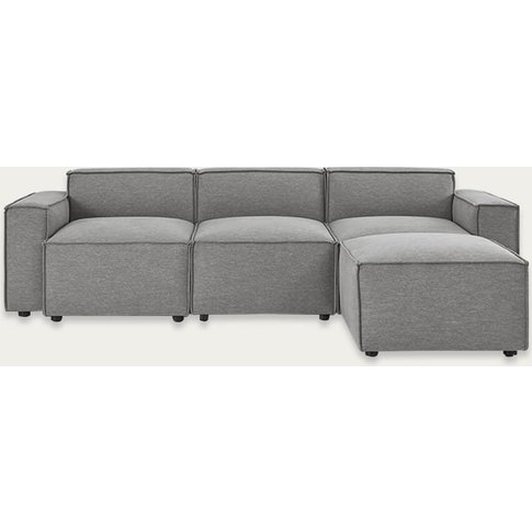 Shadow Model 03 Linen 3 Seater Right Chaise Sofa