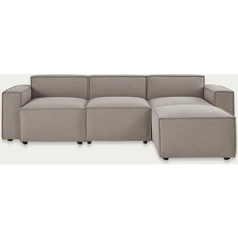 Pumice Model 03 Linen 3 Seater Right Chaise Sofa