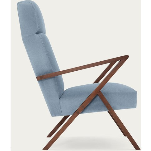 Ice Grey Retrostar Lounge Chair Velvet Line
