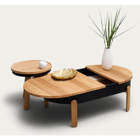 Oak/Black Large Batea Coffee Table