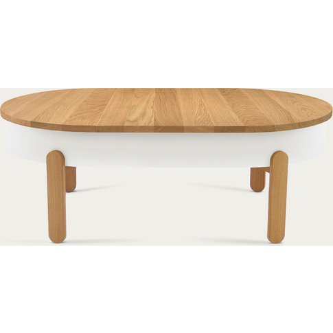Oak/White Large Batea Coffee Table