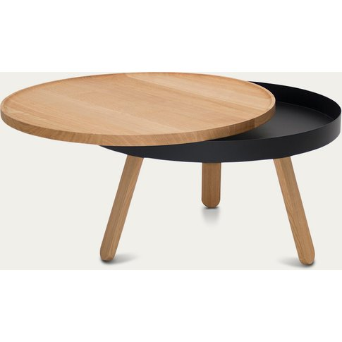 Oak/Black Medium Batea Coffee Table
