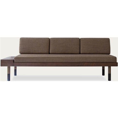 Brown Mid Straight Sofa