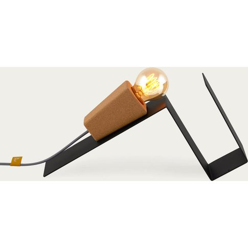Black Base And Grey Cable Glint #1 Desk Lamp