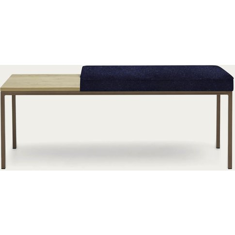 Ink Blue Cube Bench Wool Line