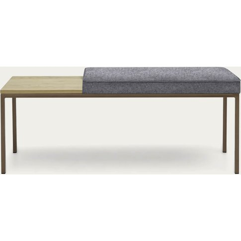 Stone Grey Cube Bench Wool Line