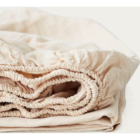 Shifting Sand Linen Fitted Sheet
