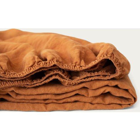 Almond Linen Fitted Sheet