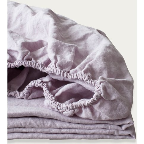 Pink Lavender Linen Fitted Sheet