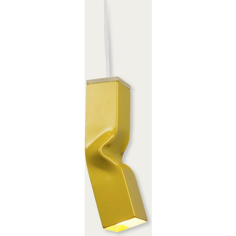 Yellow Bendy Pendant Lamp