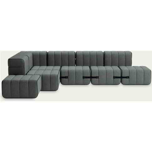 Grey Curt Sofa System 12 Modules - Sera