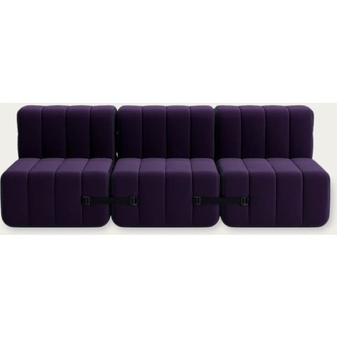 Purple Curt Sofa System 6 Modules - Jet