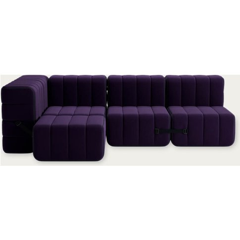 Purple Curt Sofa System 9 Modules - Jet