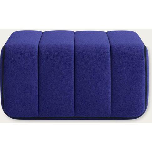 Blue Curt Sofa Module - Jet