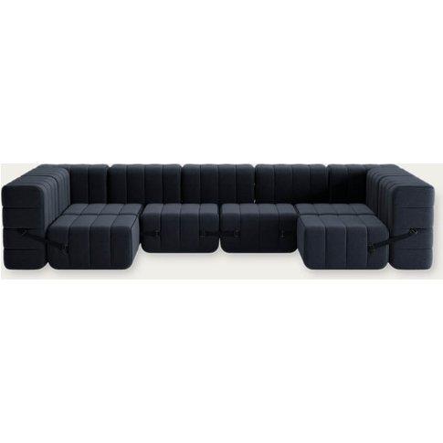 Dark Grey Curt Sofa System 15 Modules - Jet