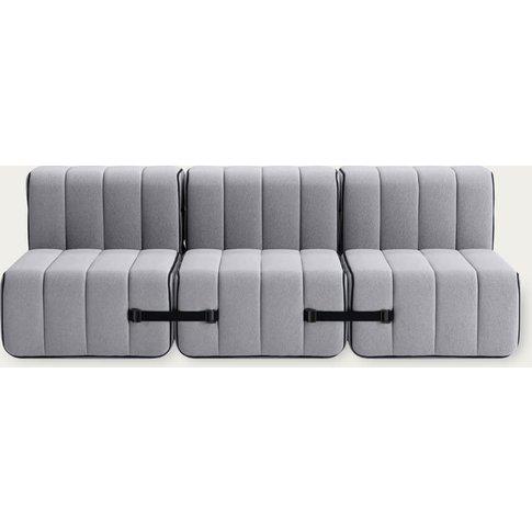 Grey Curt Sofa System 6 Modules - Jet