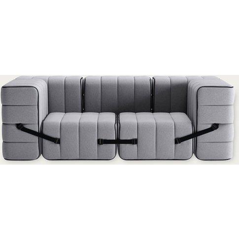 Grey Curt Sofa System 7 Modules - Jet