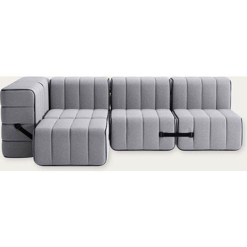Grey Curt Sofa System 9 Modules - Jet