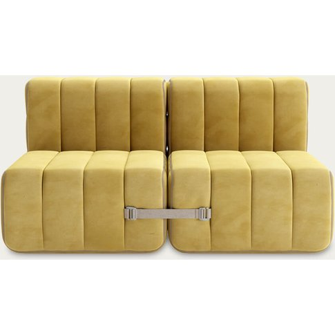 Yellow Curt Sofa System 4 Modules - Barcelona