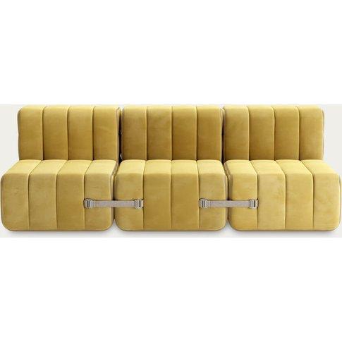 Yellow Curt Sofa System 6 Modules - Barcelona