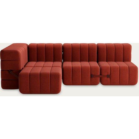 Red Curt Sofa System 9 Modules - Dama