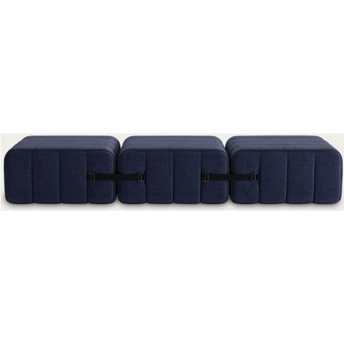 Dark Blue Curt Sofa System 3 Modules - Dama