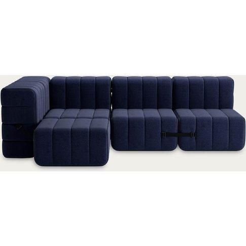 Dark Blue Curt Sofa System 9 Modules - Dama