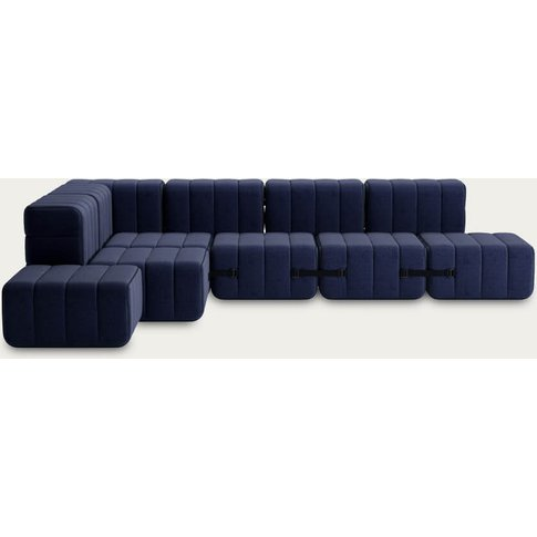 Dark Blue Curt Sofa System 12 Modules - Dama