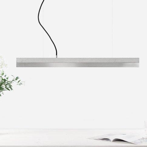Graphite Grey Concrete & Stainless Steel Pendant Light