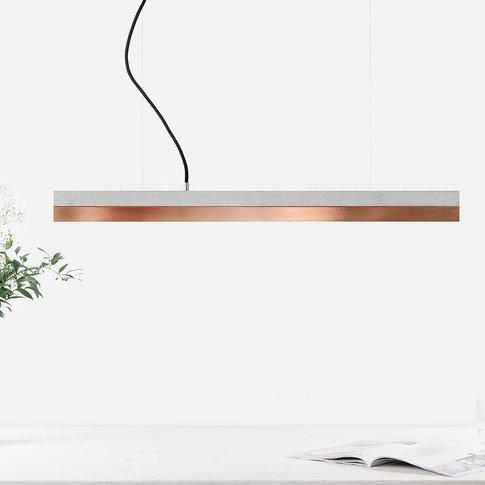 Graphite Grey Concrete & Copper Pendant Light