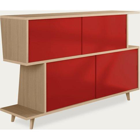 Oak/Red Sideboard