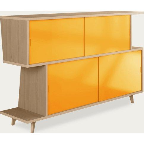 Oak/Yellow Sideboard