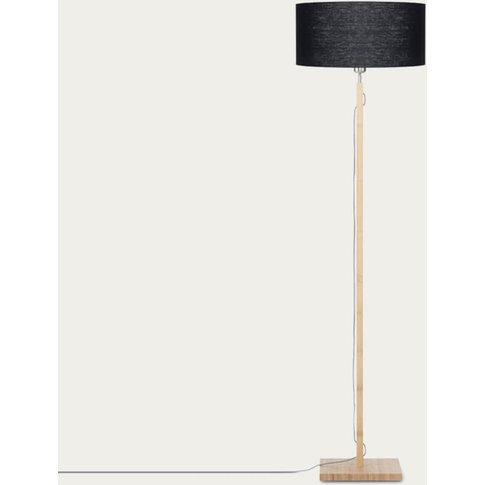Natural/Black Fuji Bamboo Floor Lamp