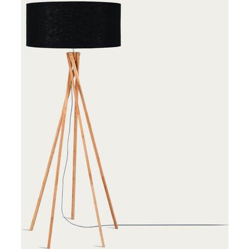 Natural/Black Kilimanjaro Bamboo Floor Lamp