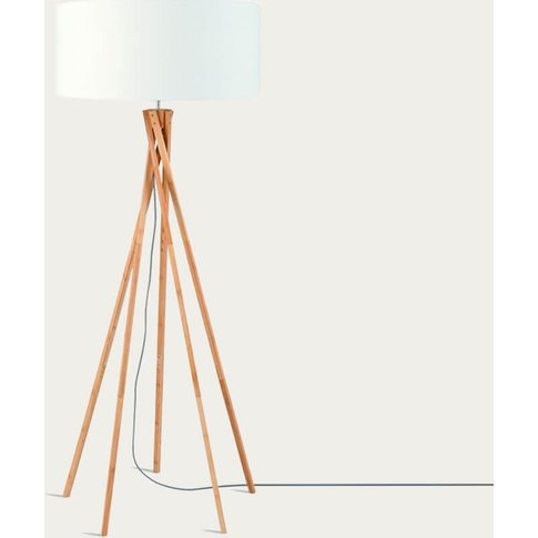 Natural/White Kilimanjaro Bamboo Floor Lamp
