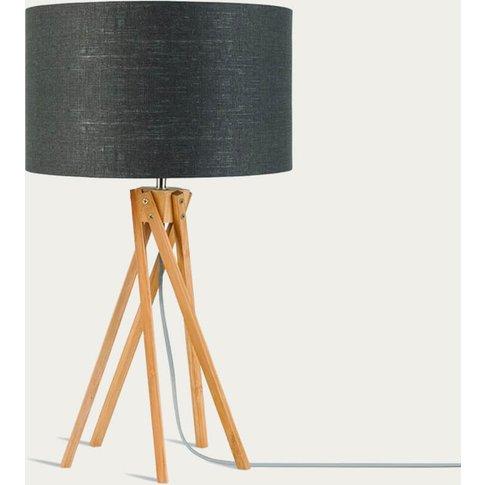 Natural/Dark Grey Kilimanjaro Bamboo Table Lamp