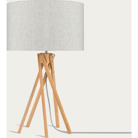 Natural/Linen Light Kilimanjaro Bamboo Table Lamp