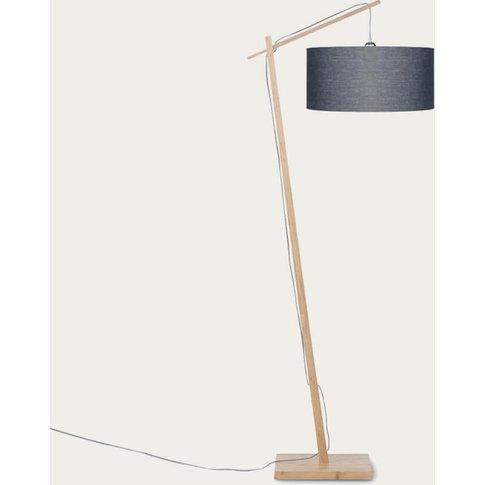 Natural/Dark Grey Andes Bamboo Floor Lamp