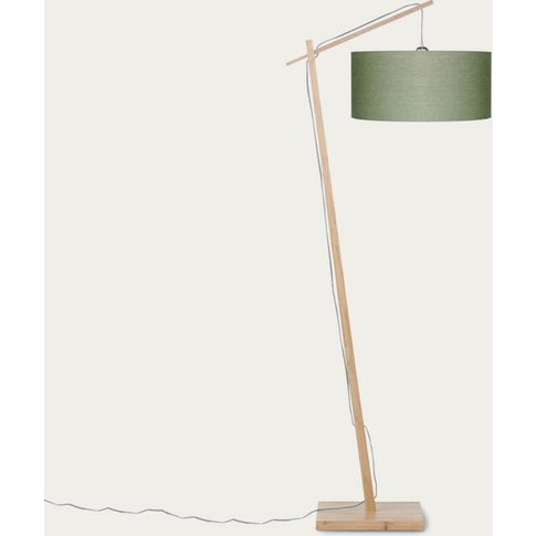 Natural/Green Forest Andes Bamboo Floor Lamp