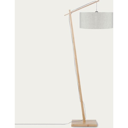 Natural/Linen Light Andes Bamboo Floor Lamp