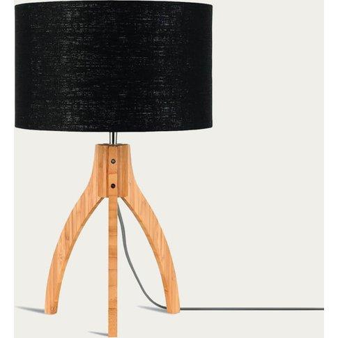 Natural/Black Annapurna Bamboo Table Lamp