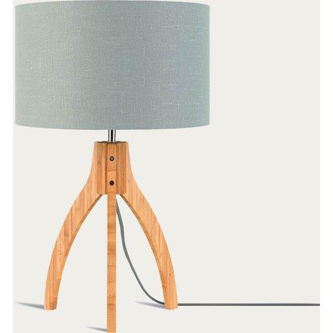 Natural/Light Grey Annapurna Bamboo Table Lamp