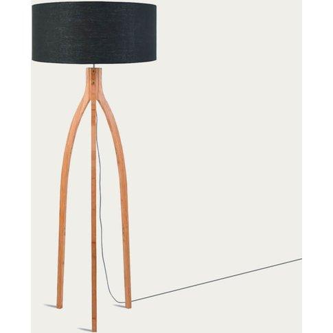 Natural/Dark Grey Annapurna Bamboo Floor Lamp