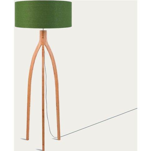 Natural/Green Forest Annapurna Bamboo Floor Lamp