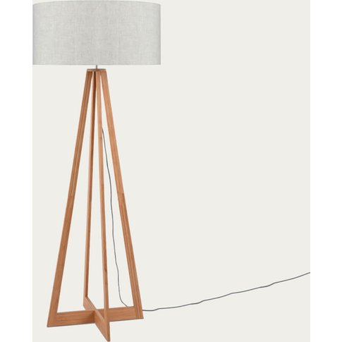 Natural/Linen Light Everest Bamboo Floor Lamp