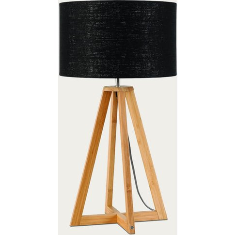Natural/Black Everest Bamboo Table Lamp