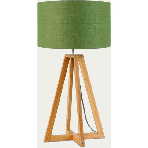 Natural/Green Forest Everest Bamboo Table Lamp