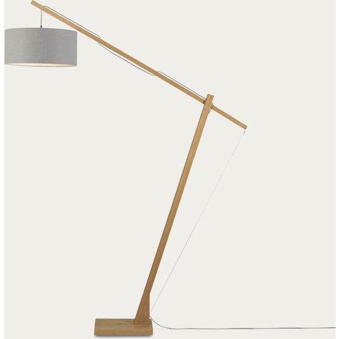 Natural/Light Grey Montblanc Bamboo Floor Lamp