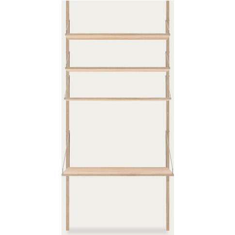 Shelf Library White H1852 Desk Add-On Section